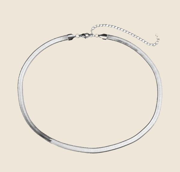 Big Snake Sin necklace silver