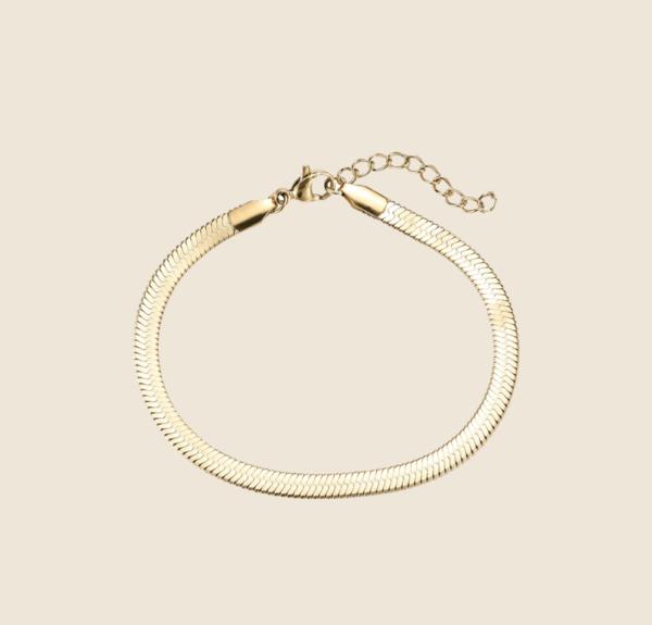 Big Snake Skin bracelet gold