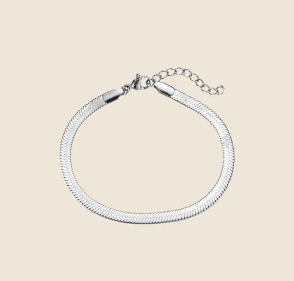 Big Snake Skin bracelet silver
