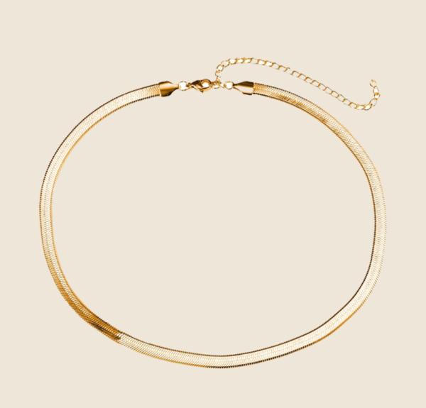Big Snake Skin necklace silver