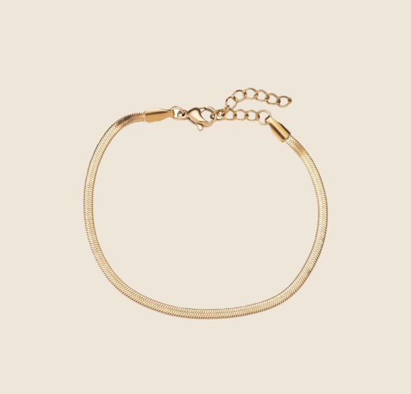 Snake Skin bracelet gold