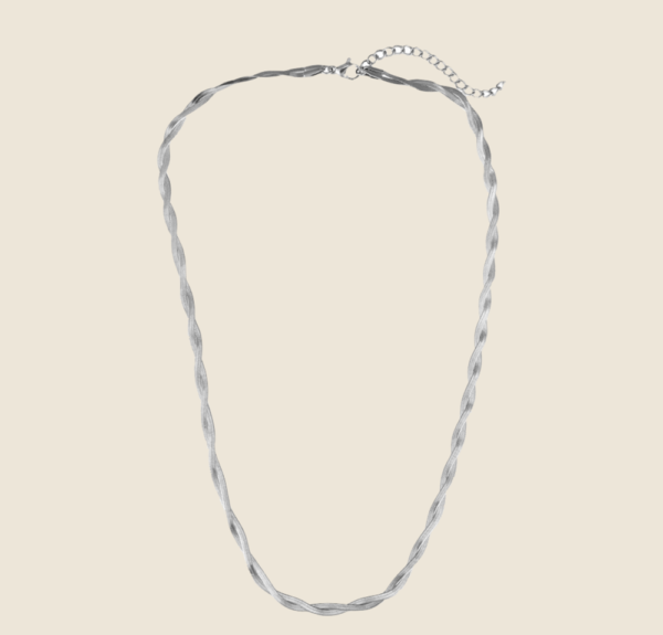 Twisted Snake Skin necklace silver