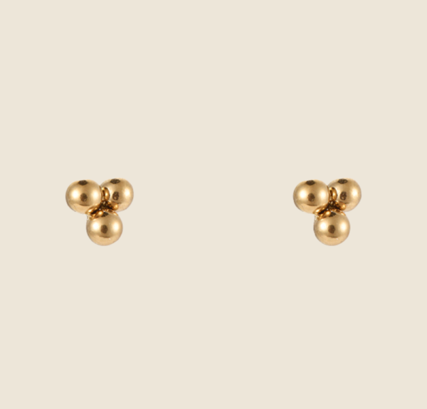 Dotted earstuds gold